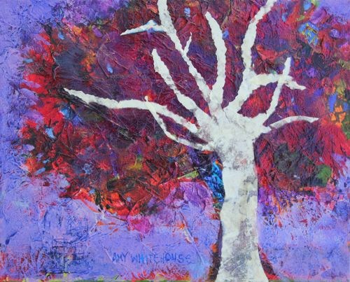 """Perseverance, Contemporary Mixed Media Paintings by Arizona Artist Amy Whitehouse"" original fine art by Amy Whitehouse"