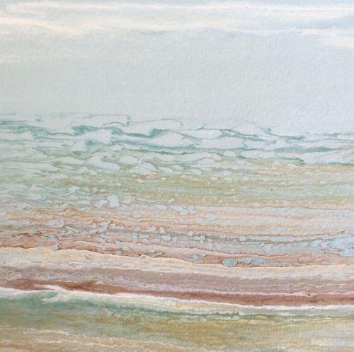 """Abstract Seascape Painting Coastal Abstract -Study #4  by Colorado Contemporary Artist Kimberly Co"" original fine art by Kimberly Conrad"