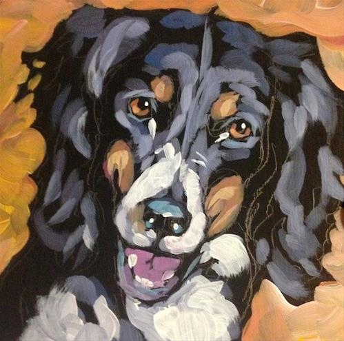 """July 29, Mystery Dog"" original fine art by Kat Corrigan"