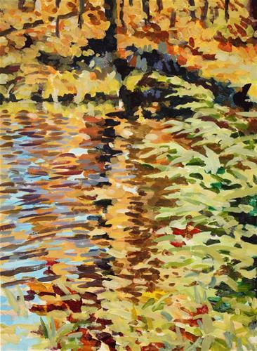 """A Reflection in Gatineau Park"" original fine art by Elbagir Osman"