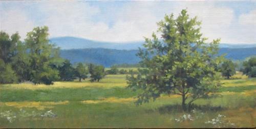 """""""VIEW FROM THE EISENHOWER FARM An Original Oil Painting  by Claire Beadon Carnell"""" original fine art by Claire Beadon Carnell"""