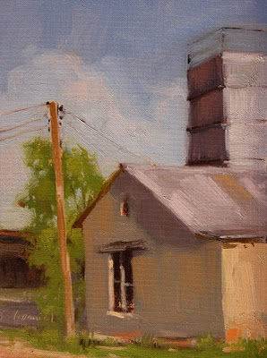 """Old Granary"" original fine art by Laurel Daniel"