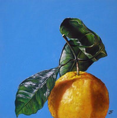 """Satsuma Study #1"" original fine art by Jelaine Faunce"