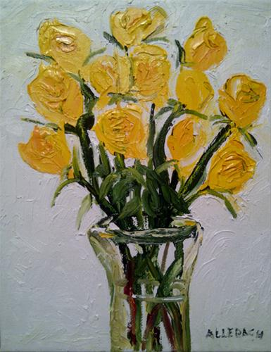 """yellow roses"" original fine art by Jo Allebach"