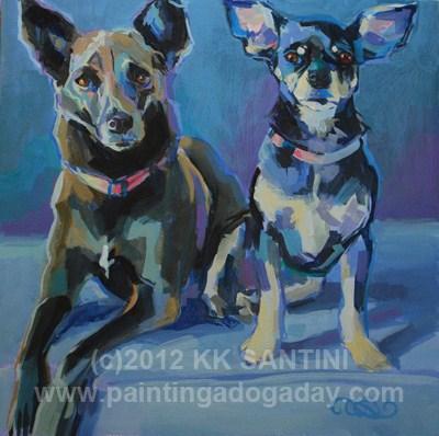 """""""Princess One & Princess Two"""" original fine art by Kimberly Santini"""