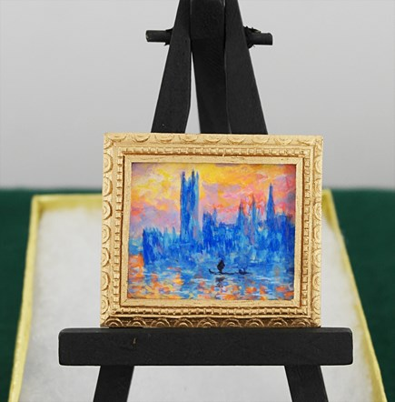 """Mini Monet — Houses of Parliament at Sunset"" original fine art by Jamie Williams Grossman"