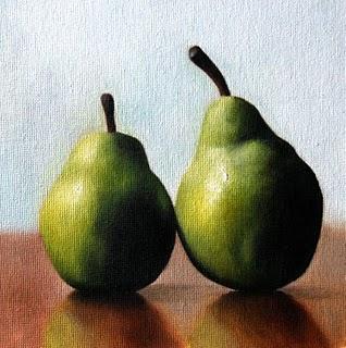 """Pears"" original fine art by Jonathan Aller"