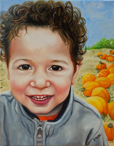 """Hayden"" original fine art by Gretchen Matta"