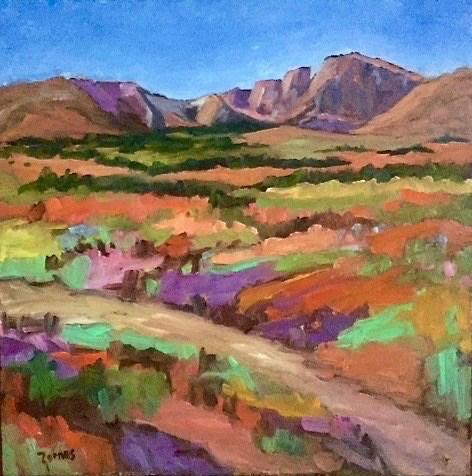 """""""Fall Colors at Long's Peak"""" original fine art by Liz Zornes"""