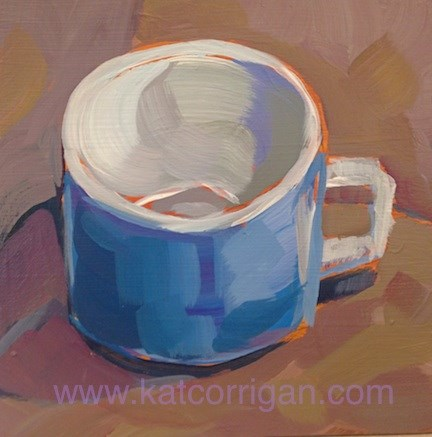 """Mug O Love"" original fine art by Kat Corrigan"