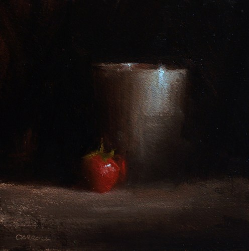 """Cup and Strawberry"" original fine art by Neil Carroll"