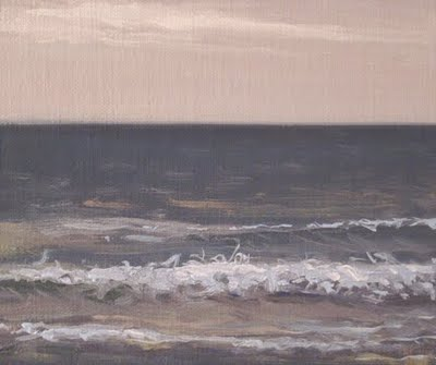 """Seascape with Wave Set"" original fine art by Abbey Ryan"