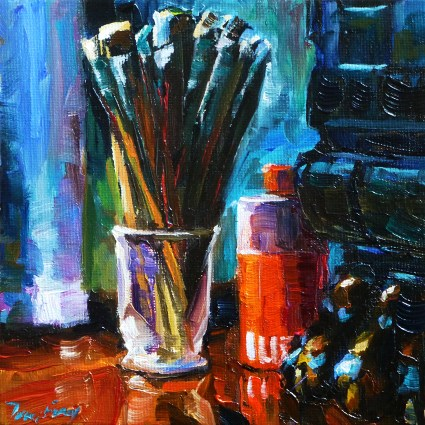 """brush"" original fine art by Jurij Frey"