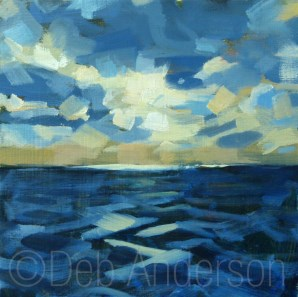 """Oil Painting: Sea and Sky"" original fine art by Deb Anderson"