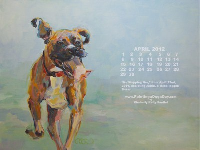 """April Desktop Calendar"" original fine art by Kimberly Santini"