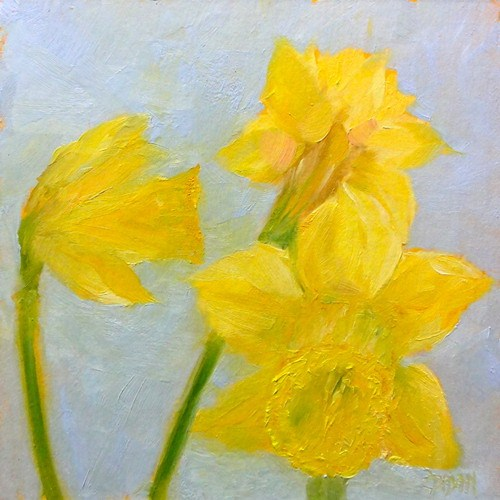 """Daffodils"" original fine art by Dalan Wells"