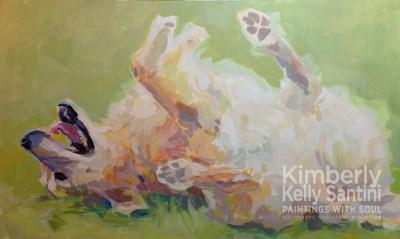 """Bear's Backscratch, In Process"" original fine art by Kimberly Santini"