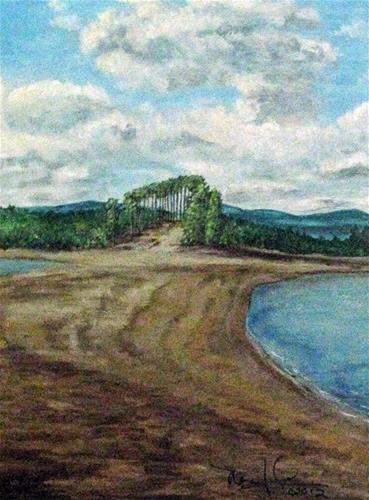 """Beacon Island"" original fine art by Nan Johnson"