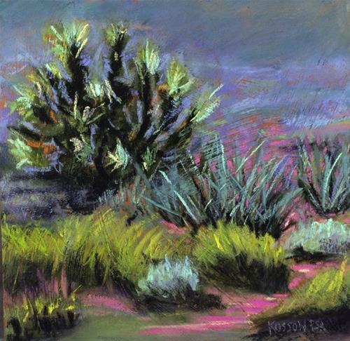 """Desert Bloom Study"" original fine art by Cristine Kossow"