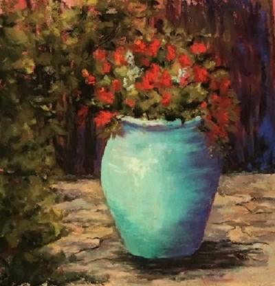 """Santa Fe Geraniums"" original fine art by Angeli Petrocco Coover"