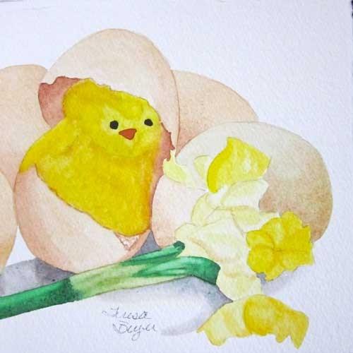 """Easter Chick"" original fine art by Teresa Beyer"