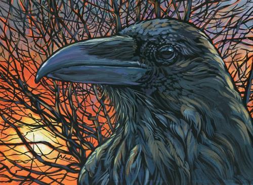 """14/41 Raven Orange"" original fine art by Nadi Spencer"