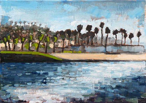 """""""Ocean Beach Painting"""" original fine art by Kevin Inman"""