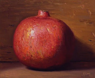"""Pomegranate No. 3 - available"" original fine art by Abbey Ryan"