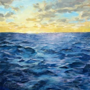 """Oil Painting: Sea Map II"" original fine art by Deb Anderson"