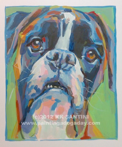 """Bella, A Painted Sketch"" original fine art by Kimberly Santini"