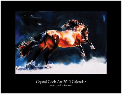 """2013 wall calendar"" original fine art by Crystal  Cook"
