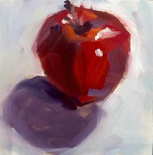 """Apple #3"" original fine art by Elizabeth Bish"