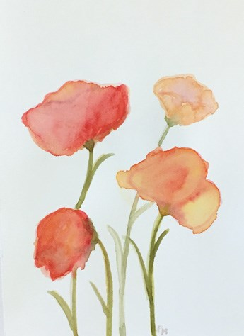 """Sweet Poppies"" original fine art by Pamela Munger"