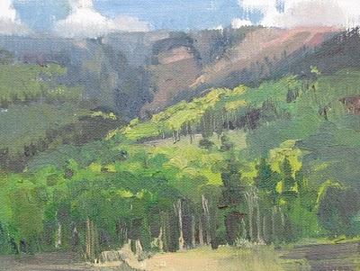 """""""Aspen Here, Aspen There"""" original fine art by V.... Vaughan"""