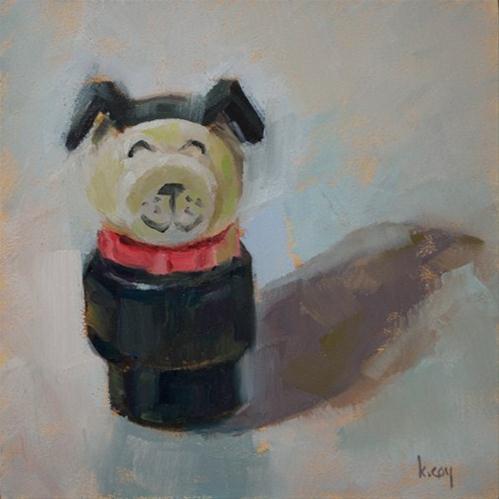 """Fisher Price Dog"" original fine art by Kathleen Coy"