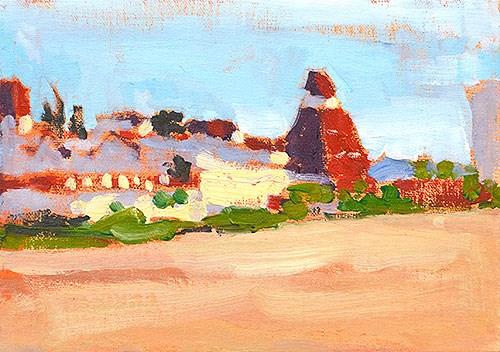 """""""Hotel del Coronado Painting"""" original fine art by Kevin Inman"""