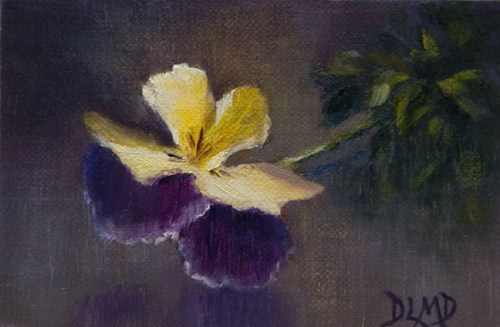 """""Cheerful"" and Daily Sketch: First Viola"" original fine art by Debbie Lamey-Macdonald"