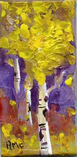 """Apsen Tree Mini"" original fine art by Arlayne McKee"