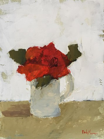 """Red Floral IV"" original fine art by Pamela Munger"