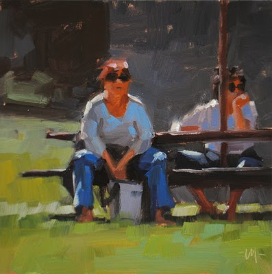 """Waiting For Lunch"" original fine art by Carol Marine"