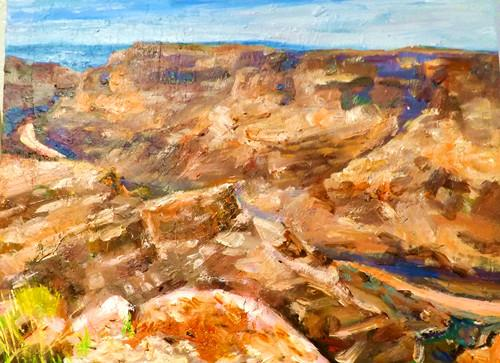 """grand canyon 4"" original fine art by Run-      Zhang Zane"