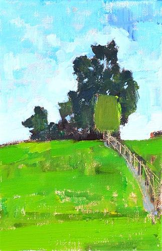 """Virginia Summer Farm"" original fine art by Kevin Inman"