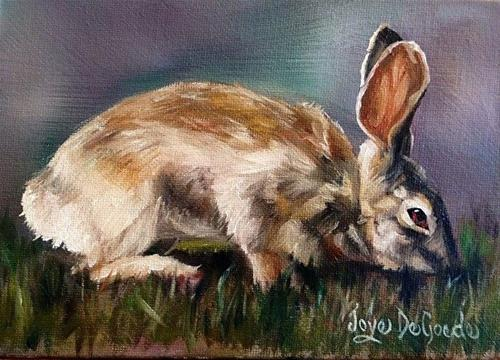 """A Quick Nibble by Joye DeGoede"" original fine art by Joye DeGoede"