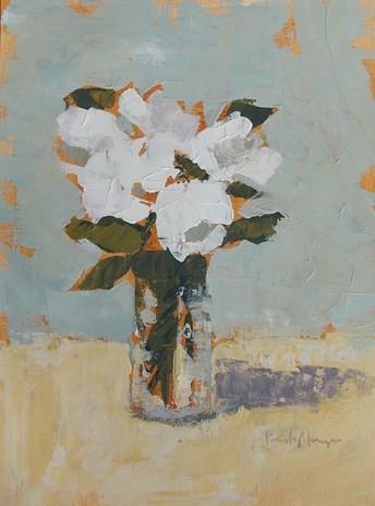 """White Floral XXXI"" original fine art by Pamela Munger"