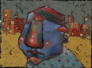 """City Dweller"" original fine art by Brenda York"