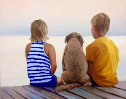 """Family Meeting"" original fine art by Cathy Boyd"