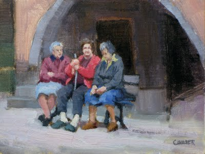 """THE MATRIARCHS"" original fine art by James Coulter"