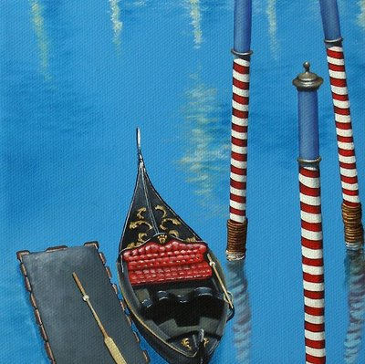 """3 of 4 - Gondola Commission"" original fine art by Jelaine Faunce"