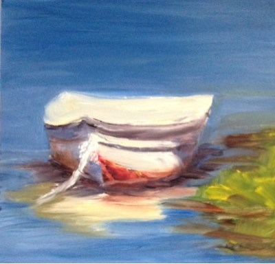 """Dinghy"" original fine art by Debra Kennedy"