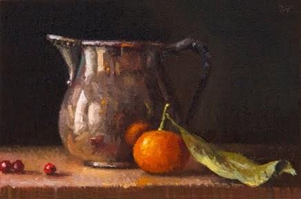 """Still Life with Silver Creamer"" original fine art by Abbey Ryan"